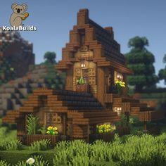 Minecraft Projects, Minecraft Designs, Minecraft Castle, Starter Home, Empire State Building, Big Ben, Medieval, Cozy, House