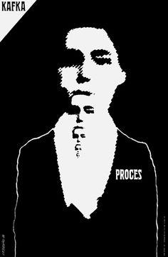 Roman Cieslewicz (1964) Franz Kafka: The Trial, theatre poster