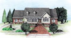 Country House Plan with 2188 Square Feet and 3 Bedrooms from Dream Home Source | House Plan Code DHSW13647