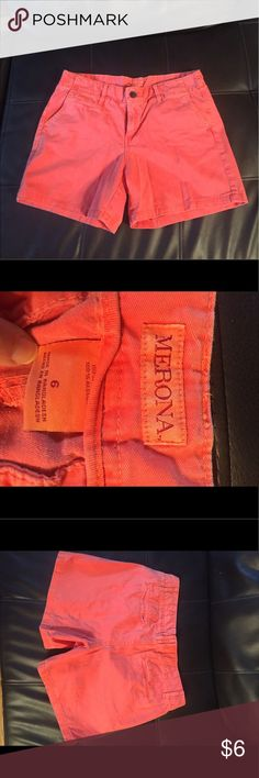 Merona coral color shorts Like brand new. only worn once. Mid short length not too short Shorts