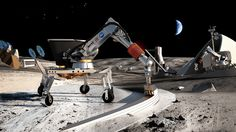 No Joke: These Guys Created A Machine For Printing Houses On The Moon - Contour crafting is effectively a form of 3-D printing. A robot arm extrudes concrete while automated trowels smooth the material into place.