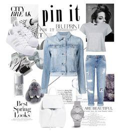 """#pinit #grey #white #women #fashion #make #Create #your #own"" by kristinoka ❤ liked on Polyvore featuring Vanity Fair, H&M, adidas, Miss Selfridge, Mansur Gavriel, Komono, Christian Dior, Bobbi Brown Cosmetics, RE/DONE and 3x1"