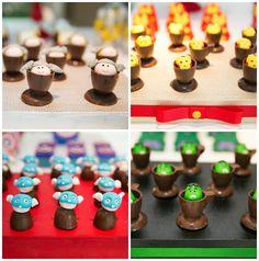 Docinhos de chocolate decorados para festa infantil dos Vingadores - Miguel 03 anos