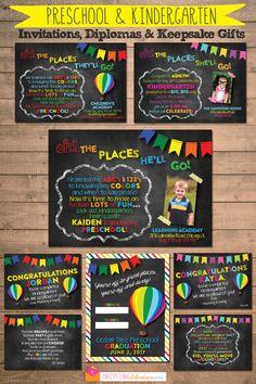 Preschool and Kindergarten Graduation Invitations, Diplomas and Keepsake Gifts.