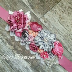 Maternity Belt, Sash Belts, Baby Headbands, Diy Fashion, Hair Bows, Baby Shower, Bridal, Ribbon, Child