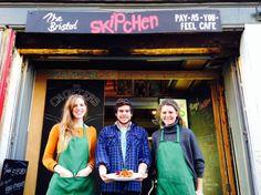 Rachel Haig, Sam Joseph y Katie Jarman en el Skipchen de Bristol.