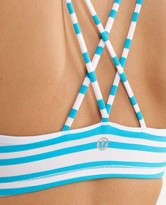 LULULEMON FREE TO BE BRA- pink and white stripes/ blue and white stripes LOVE BOTH COLORS: $42 on lululemon.com