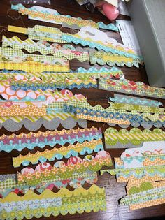 Mish Mash: Border Die Cut Strips... Make a bunch to have on hand for fast card making:)