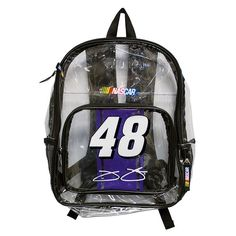 Jimmie Johnson Clear Backpack, Multicolor