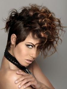 Curly Mohawk Hair Style