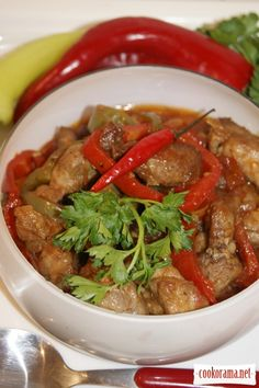 Ароматная свинина по-деревенски и домашнее жаркое из неё / Украинская кухня
