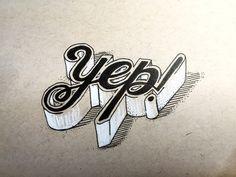 Yep! Handwritten typography