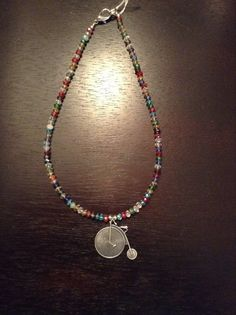 Multi+color+glass+beaded+short+necklace+with+by+TarasExpressions,+$26.00