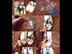 Reciclaje creativo con Mayne Tanori http://ini.es/1B4tzmX #CuadrosEnLaDecoracion, #Decoración, #IdeasParaReciclar, #ReciclajeCreativo