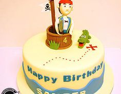 Bake My Day Celebration Cakes Festkager | Children's Birthday Jake and the Neverland Pirates character cake Crocodile. Fondant
