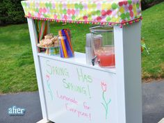 Out of an old Twin headboard!! such a cool idea! who wants some lemonade?!?