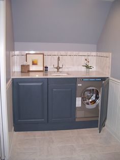 Undercounter Washer And Dryer In A Guest Bath I Designed, Very Practical