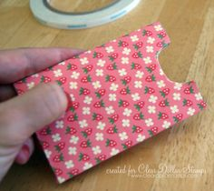gift card holder made from toilet paper roll