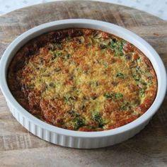 Koolhydraatarme quiche met spinazie, champignons en feta kaas!