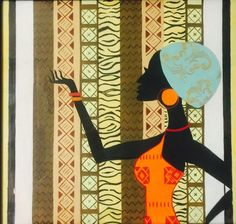 African Artwork #orange #green #black #blue #female #history #culture #powerful #africanartwork #art #strong African Artwork, African Culture, Strong, Symbols, Orange, Female, History, Green, Blue