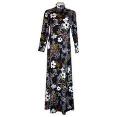 Vintage 1970's Full Length Maxi Dress Hostess Gown