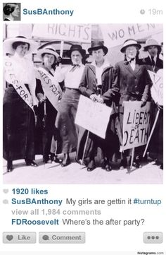 If historical figures had instagram. YES!
