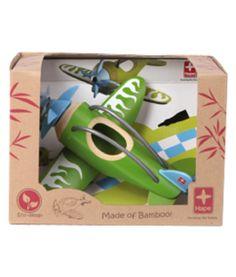 Uit de bamboe reeks van Hape! Met dit prachtige vliegtuig zullen je kinderen zich nog lang amuseren. Eco-vriendelijk. Afmetingen: 18 cm x 23 cm x 11 cm geschikt vanaf 3 jaar