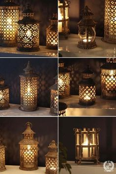 A selection of our popular Moroccan lanterns