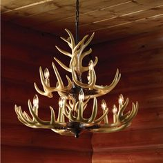 How to make an antler chandelier diy tutorial chandelier top deer antler chandelier the next best thing to mounting your own 12 point rack aloadofball Choice Image