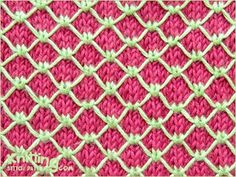 Two Coloured Royal Quilting     Knitting Stitch Patterns