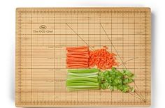The Fred & Friends THE OBSESSIVE CHEF Bamboo Cutting Board lets you measure your cuts precisely ($21). | Can You Get Through This Post Without Spending $25?