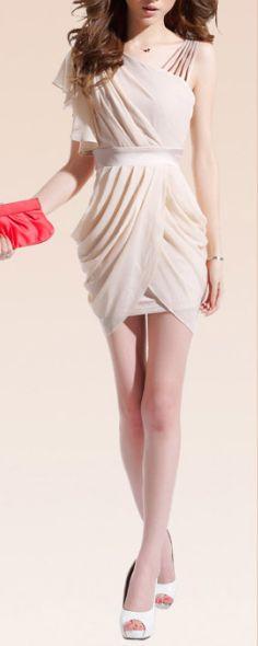 charming one-shoulder   dresslily.com