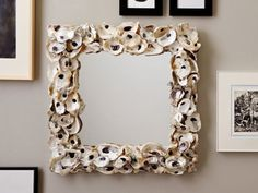 Oyster Shell Mirror.