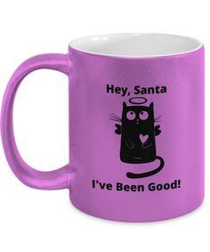 Gift Mugs, Gifts In A Mug, Novelty Gifts, Metallic, Santa, Xmas, Good Things, Prints, Design