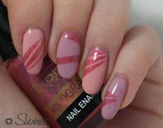 Mielenmaisemia - Pink stripes #nails #nailart
