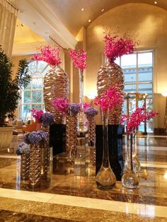 Lobby at the Rosewood Crescent Hotel in Dallas, TX by Dr Delphinium