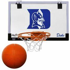 Rawlings Duke Blue Devils Game On Backboard Hoop Set