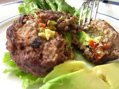 Avocado, Sun-Dried Tomato and Goat Cheese Burgers recipe