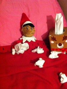 Elf on the shelf takes a sick day