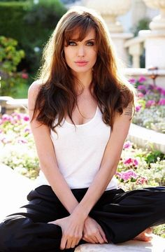 Angelina Jolie- let's face it, we're practically twins already....
