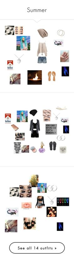 """""""Summer"""" by whitespringpro ❤ liked on Polyvore featuring Charlotte Russe, Current/Elliott, Sans Souci, Aéropostale, Halogen, Blue Nile, River Island, Havaianas, Coco's Liberty and Bobbi Brown Cosmetics"""