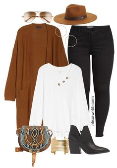 Plus Size Long Cardigan Outfit with Nordstrom - Alexa Webb - - Plus Size Long Cardigan Casual Outfit Ideas with Black Jeans, White Henley, Ankle Booties, and Chloe Crossbody Bag – Alexa Webb Source by alexandrawebb Outfit Jeans, Black Cardigan Outfit, Rust Cardigan, Jeans Outfit Winter, Fall Winter Outfits, Cardigan Fashion, Long Cardigan Outfits, Winter Fashion, White Cardigan