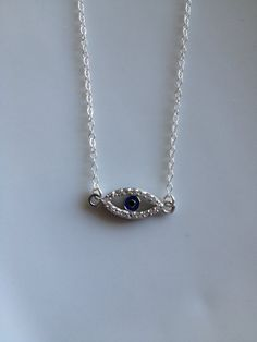 Sterling Silver Evil Eye of Protection Necklace by TheArtsyNomad, $40.00 #evileye