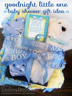 Free Printable Goodnight poem & Baby Gift Basket idea