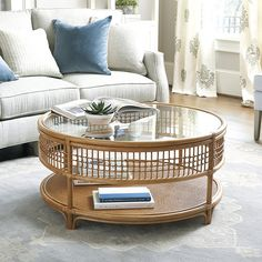 Want the Beverly Rattan Round Coffee Table to spice up your living room? Add glamour to your living and entertaining spaces and let the Beverly Rattan Round Coffee Table perfect your style! Coffee Table Furniture, Rattan Coffee Table, Cool Coffee Tables, Rattan Furniture, Decorating Coffee Tables, Coffee Table Design, Furniture Design, Rustic Furniture, Cheap Furniture