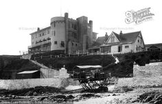 Bigbury On Sea, Burgh Island Hotel and Tractor c1935
