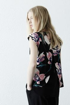 Spaced Floral tee-shirt @ Warehouse