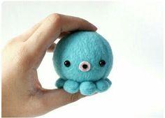 Little Blue Stuffed Octopus     Soooo cuute