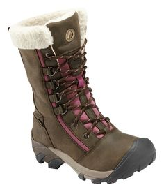KEEN Footwear - Women's Hoodoo High Lace #goexplore Love these boots! Perfect for snowy winter mornings, and with a great splash of color. I would wear these everywhere! (And wouldn't my tween girl be jealous.)