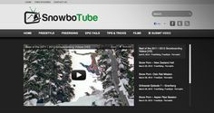 SnowboTube.com Website Design by Eri Design #snowboarding